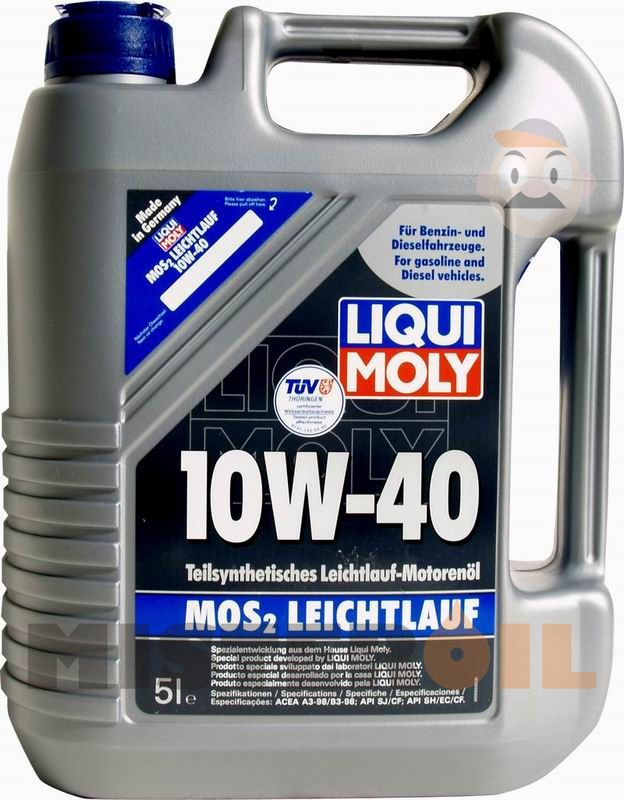 liqui moly mos2 leichtlauf 10w 40 5 l mister oil. Black Bedroom Furniture Sets. Home Design Ideas