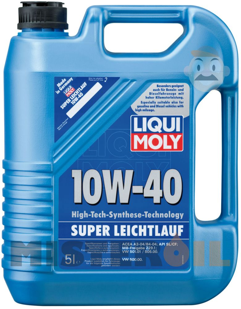 liqui moly super leichtlauf 10w 40 5 l mister oil. Black Bedroom Furniture Sets. Home Design Ideas
